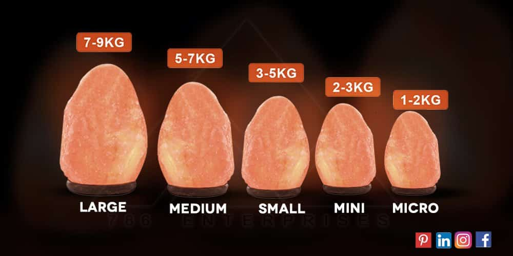 A useful Himalayan salt lamp size guide with benefits/advantages