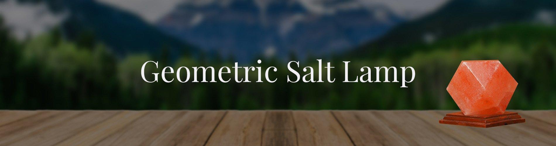 Geometric shaped salt lamp