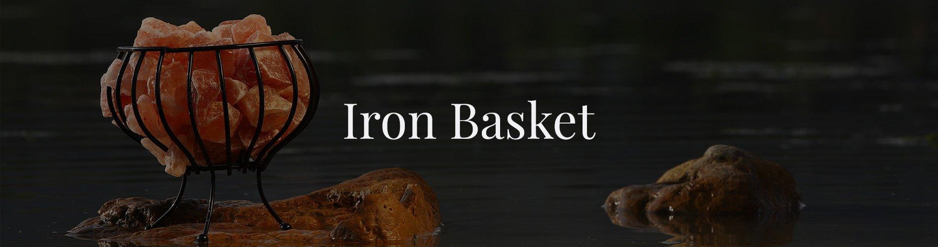 Iron Basket Lamp Background Image