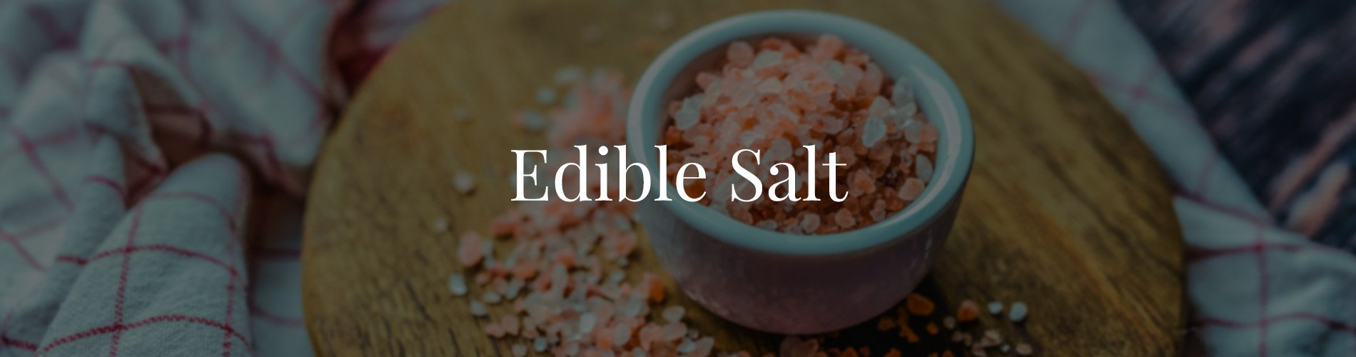 Edible salt Banner For product page
